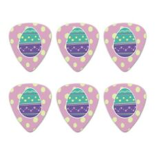 Cute Easter Egg Turquoise Purple Polka  Novelty Guitar Picks Medium - Set of 6