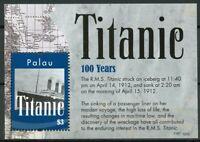 Palau 2012 MNH RMS Titanic 100th Anniv 1v S/S Boats Ships Stamps