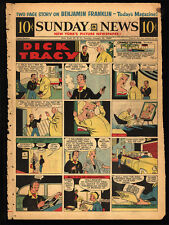 Dick Tracy - 50 Sunday pages by Chester Gould - 1956