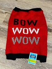 """OLD NAVY"" BOW WOW WOW Dog Sweater Sz medium NWT Adorable!!"
