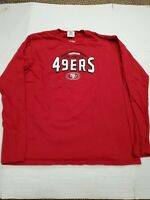 San Francisco 49ers Red NFL Team Apparel Long Sleeve T-Shirt Large Good Cond