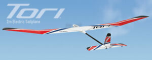 Great Planes Tori 2M Two Meter EP Electric RC Airplane Glider Rx-R GPMA1819