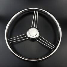 13-1/2'' 9 Spoke 304 Stainless Steel Marine Boat Steering Wheel 15° Handy