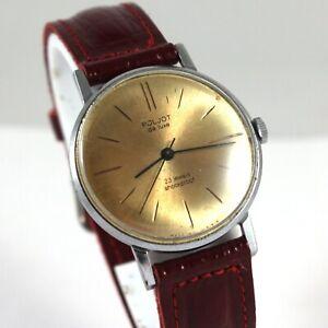 POLJOT DE LUXE vintage Russian Soviet USSR watch gold-plated movement 23 jewels