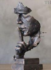 Face Sculpture Statue Abstract Modern Art Deco