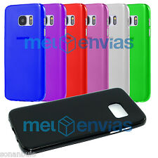 Funda carcasa SAMSUNG GALAXY S7 Gel TPU Lisa Mate Flexible Colores Varios Elige