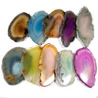 Agate Polished Crystal Slice Irregular Brazil Healing Reiki Stone Pendant Gift