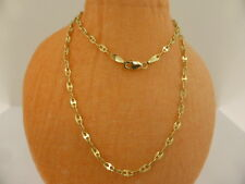 New 10ct Solid Yellow Gold Anchor Chain Necklace 46cm Italian