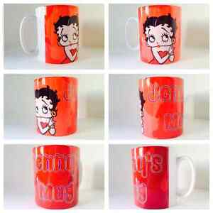 personalised mug cup betty boop pudgy sexy cute present vintage gift classic :)
