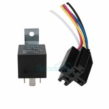 12V 30/40 Amp 5-Pin SPDT Automotive Relay with Wires & Harness Socket Set