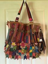 NWT Amerileather Kylie Handbag Tote Rainbow $140!