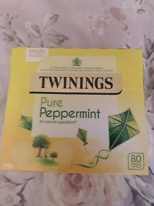 TWININGS PURE PEPPERMINT 80 TEA BAGS