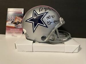 Danny White Signed Mini Helmet JSA COA Dallas Cowboys Super Bowl Champ