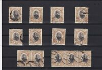 tonga 1897 2 penny variants used  stamps and blocks ref r12476