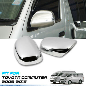 ELECTRIC MIRROR CHROME COVER FIT FOR TOYOTA HIACE COMMUTER 2005-2018