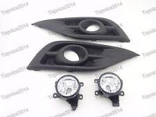 Clear Lens Driving Fog Lights Lamps + Bezels Kits for Honda CRV 2012-2014