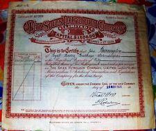 Russia. British stock certificate Spies Petroleum Company 1920's