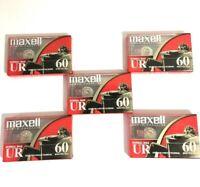 Maxell Blank Audio Cassette Tape UR-60 Normal Bias 5 Pack