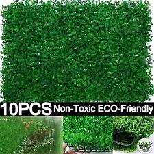 10 Artificial Plant Wall Panels Grass Hedge Fake Vertical Garden Ivy Mat Foliage