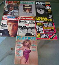 John Lennon Magazine Lot of 7 (Playboy, Tribute, Musician, People,.)