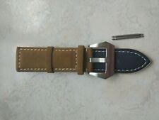 Bracelet pour PANERAI   marron bonne qualité cuir suéde 24MM
