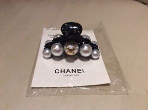 Beautiful Rare....Chanel VIP Gift-grey Pearl Hair Clip Claw. Unused