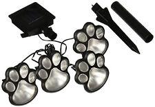 4Pcs Path Yard Garden Solar Dog Animal Paw LED Print Lamp Lights Decorative NEW