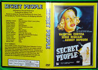SECRET PEOPLE - DVD - Audrey Hepburn, Valentina Cortesa