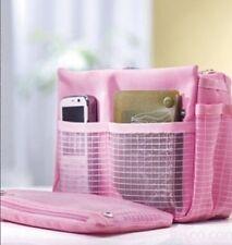 Fashion Pink Handbag Makeup Cosmetic Purse Travel Organizer Bag in Bag Pouch
