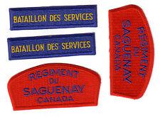 Canadian military Bataillon des services et Reg.du Saguenay 4 patches new