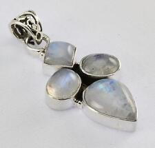 RAINBOW MOONSTONE PENDANT 925 STERLING SILVER ARTISAN JEWELRY COLLECTION Y103B