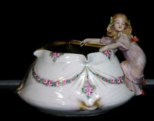 Czech Amphora Factory Art Nouveau Vase With Applied Little Girl Figure