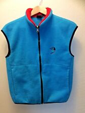 6d9f13e2fb66 Vintage The North Face Fleece Zip Turquoise Vest M Made in USA Black Label