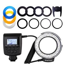 External Flash Light DSLR Camera Macro LED Ring 8 Usage Functions 48 pcs LED's