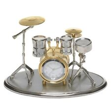 MODEL DRUM KIT CLOCK WITH SNARE BASS TOM TOM HI-HAT CYMBAL GIFT CHRISTMAS 0470