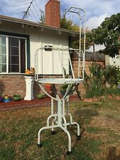 """67"""" Elegant Parrot Play Perch Stand Ground Metal Tray Long Neck Ladder Toy Hook"""