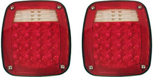 (2) LED Universal Combo Jeep Truck Tail Lights CJ5 RED