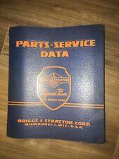 Vintage Briggs Amp Stratton Corp Parts Service Data 1957 Manual 4 Cycle Gasoline