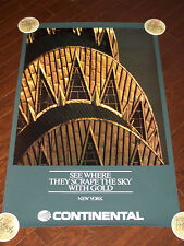 CONTINENTAL AIRLINES NEW YORK CITY POSTER
