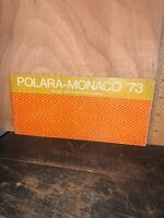 1973 Dodge Polara Monaco Owners Operators Manual Instructions 73