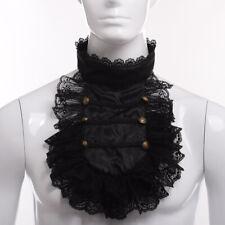 Steampunk Lace Necklace Ruffle Collar Retro Victorian Men's Detachable Collar