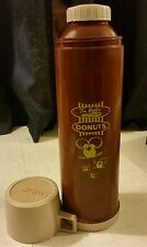 "Tim Horton Hortons Donuts Plastic Thermos Timbits Tall 13.5""  Brown  Vintage"