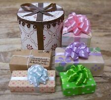 6 Dollhouse Miniature Doll House Wrapped Gift Packages Presents Mini Small