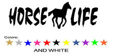 Horse Life Decal Sticker Horseback Barrel Racing Jumping Trail Riding Show