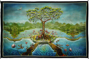 TA57 Mike Dubois Tree Worshiped Eyeland 30 x 45 Inch Cloth Poster Tapestry