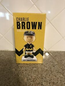 Pittsburgh Pirates Charlie Brown 50th Anniversary Black Jersey Bobblehead SGA