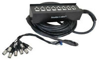 NEW 65ft Eight Ch Cable Snake.PA System Gear.Installation.Audio Concert Cords.