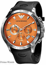 Emporio Armani Ar0652 SPORT Chronograph NEU OVP Herrenuhr Watch Orange Men