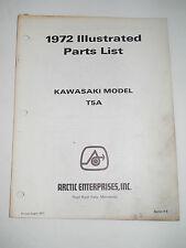 ARCTIC CAT 1972 KAWASAKI MODEL T5A LLUSTRATED PARTS LIST MANUAL CATALOGUE