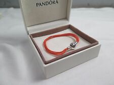 New Pandora Orange Small Multi Strand Cord Bracelet 590715COEM M1 Halloween